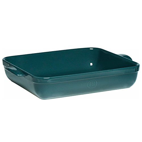 Rectangle Baking Dish - Emile Henry Made In France  16.7 by 11-Inch Roaster, Blue Flame