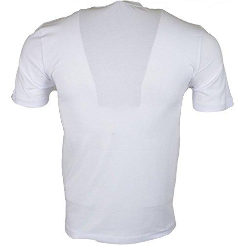MOSCHINO M473171E1811 Love Printed Stretch Slim Fit White T-Shirt L White by MOSCHINO (Image #1)
