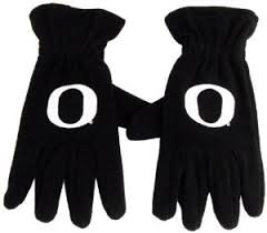 nsed Oregon Ducks Embroidered Fleece Gloves (Black) (Fleece Embroidered Basketball)