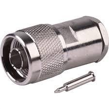 26-8000 N Male Plug Straight Clamp/Solder for RG8, RG11, RG213, RG214 (1 piece)