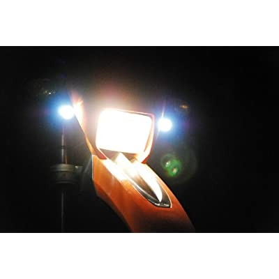 OZ-USA Motorcycle CREE Lights High Output LED Fog Street Touring Cruiser Dual Sport Offroad: Automotive