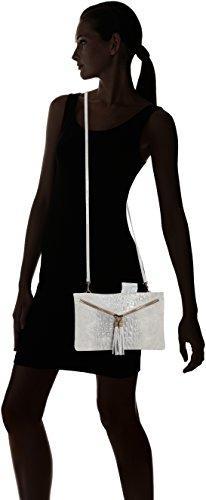 pequeno mujer de piel genuina 29x19x2 hombro de Cm Gris CTM en Italia bolso para Grigio hecho clutch Eqx80t
