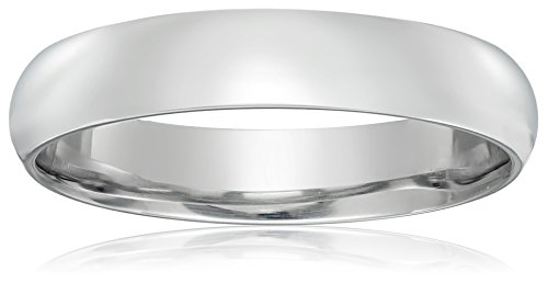 Classic Fit Platinum Band, 4mm, Size 9