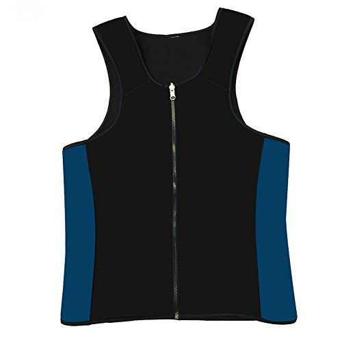 MZjJPN Neoprene Body Shaper men Vest Ultra Plus Size Slimming Waist Shaperwear Cinchers Sauna Tops Sweat Suit black XXL]()
