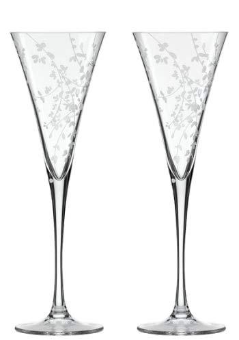 Lenox kate spade new york Gardner Street Platinum Crystal Champagne Toasting Flutes, Pair new in -