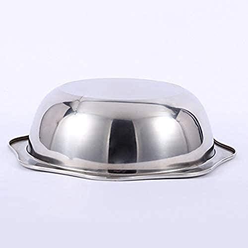 SHYOD Pot en Acier Inoxydable, Pot octogonal, Pot, Pot de Nouilles, Pot Chaud pour Restaurant de Cuisine (Size : 32cm)