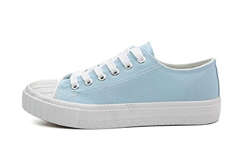 Casual Deportivo Azul 36 Sneaker Shoes 40 Shoes Top para Calzado Sneaker Sneaker Mujer Rojeam Low Textile qXFwEE