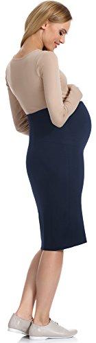 Be Mammy Maternidad Vestido para mujer 30 Navy