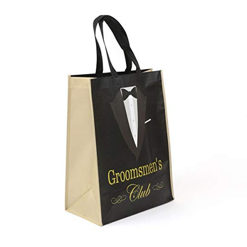 Groomsmen Gift Bags (Groomsmen's Club Wedding Gifts Non Woven Tote Bags Wedding Party Groomsmen Stag Welcome Gift Bags 5 Pce)