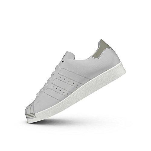 adidas Damen Superstar 80s Decon W Gymnastikschuhe Grau (Grey One F17/grey One F17/off White)