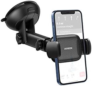 UGREEN Auto Telefoonhouder Zuignap Windscherm Voorruit Dashboard Car Holder Compatibel met iPhone 12 Mini 12 Pro Max SE 11 XS XR Galaxy F52 M42 M12 F12 Redmi K40 Mi 11X Pro Huawei nova 8 Pro Mate40E
