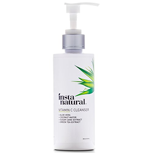 Natural skin care. Vitamin C Facial Cleanser - Anti Aging, Breakout & Blemish, Wrinkle Reducing Gel Face Wash - Clear Pores on Oily, Dry & Sensitive Skin with Organic & Natural Ingredients - InstaNatural - 6.7 oz. #skincare #skincareroutine #skincaretips