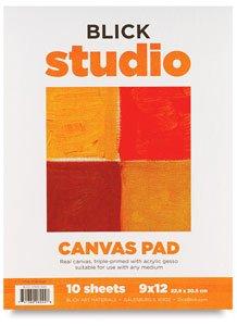 """Blick Studio Canvas Pad - 18"""" x 24"""", 10 Sheets"""
