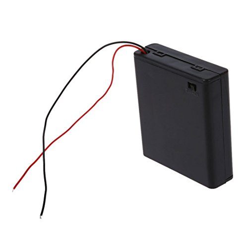 SODIAL(R) 2 Pcs 4 x AA 6V Battery Holder Case Box Wired ON/OFF Switch w Cover by SODIAL(R) (Image #3)