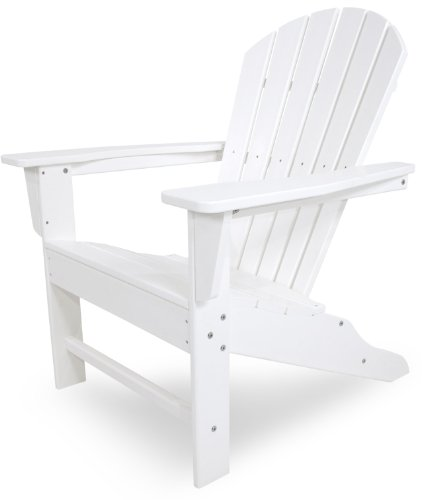 Polywood Outdoor Furniture (POLYWOOD Outdoor Furniture South Beach Adirondack Chair, White-Recycled Plastic Materials)