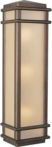 Murray Feiss OL3404CB-LED Mission Lodge Outdoor Wall Pocket Sconce Lighting, 180W, (Mission Lodge Bronze Flush)