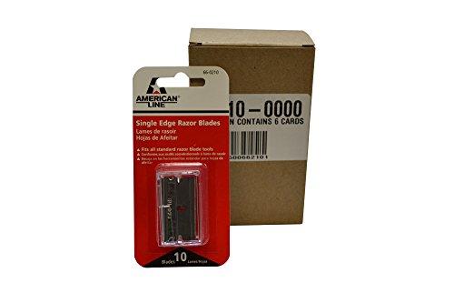 (American Line 66-0210CT Single Edge Blades, Aluminum Back, 0.009
