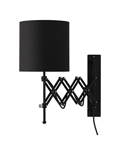 Modernluci Wall Sconce LED Wall Light Modern Plug in Bedroom Lamp Black