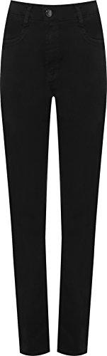 Plaine Dames tendue Pantalon Maigre 44 Noir Plus Femmes Toile Jambe Jeans Jean 56 De Pantalon WEARALL Super 0TEwCpq11W