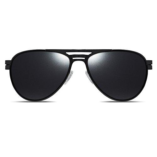 Dillon Optics Mikel Sunglasses Polarized (Matte Black, Black - Dillon Sunglasses