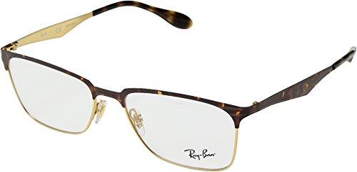 Ray-Ban Men's RX6344 Eyeglasses Gold/Havana - Ray Class A Ban