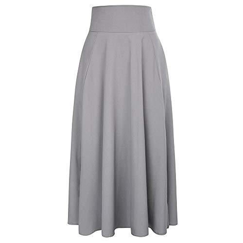 a23bb772cdf Calvin Sally Women s Casual Flowy Dress High Waist Pleated Midi Skirt with  Pockets. by calvin   sally