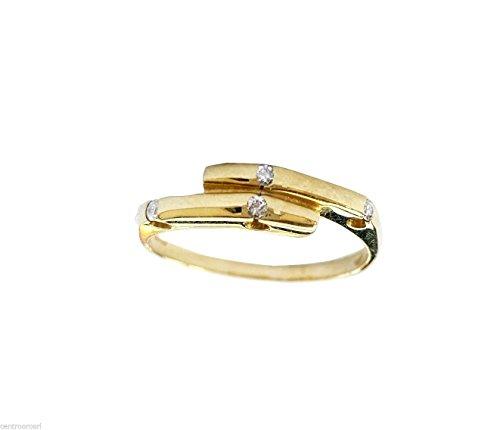Bague fermanello Femme en Or jaune 18carats 750/000et diamants naturels 0.06cts
