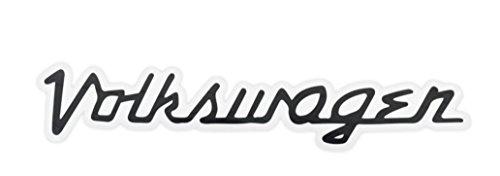Volkswagen - Black - Small Retro Logo - Sticker / Decal ()