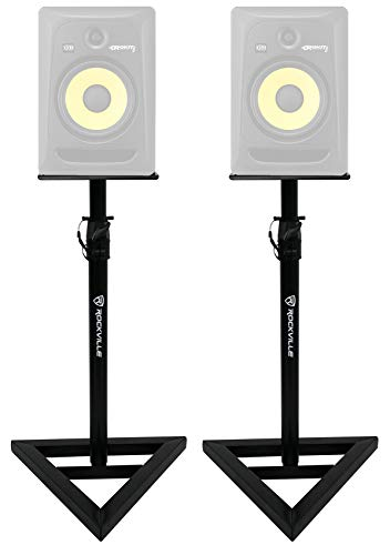 2 Rockville Adjustable Studio Monitor Speaker Stands For KRK ROKIT 8 G3 Monitors best to buy
