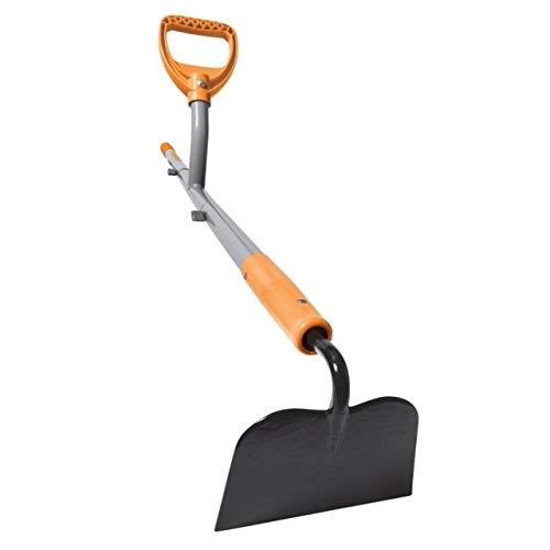 Ergieshovel ERG-GHOE625 12 Gauge, 54 in Steel Shaft,6.25 in Shank Pattern Blade Garden Hoe, Gray/Orange