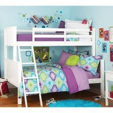 Your Zone Zzz Collection Twin-over-full Bunk Bed, White (Twin-over-full, White) For Sale