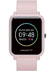 Amazfit Bip S Lite Smartwatch för män och kvinnor, 1,28 tum always-on färgskärm fitness tracker med 30 dagars batteri, 150 urtavlor, 5 ATM vattentät, puls, sömnmonitor, musikstyrning