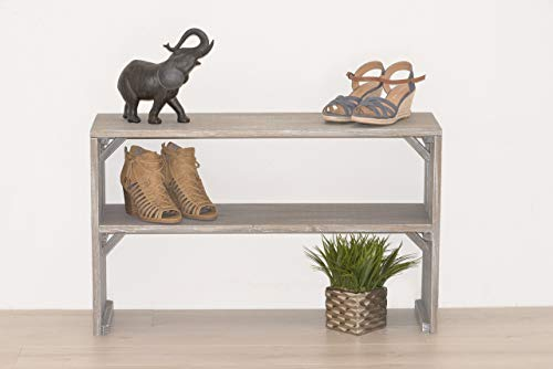 Solid Wood Shoe Storage Bench - Entryway Shoe Organizer