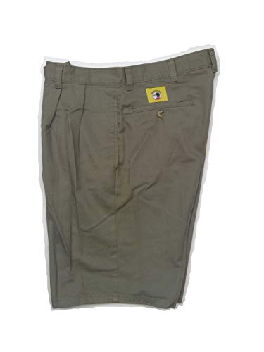 Duck Head Original' Men's Classic-Fit Short with Double-Pleat Washed Twill, 100% Cotton, Olive Green, 32 in. Waste ()