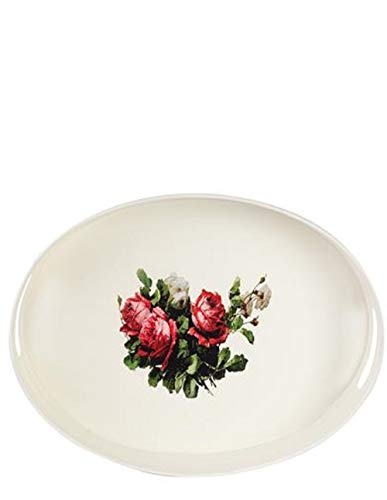Victorian Trading Co. Avonlea Cabbage Rose Galvanized Enameled Tray