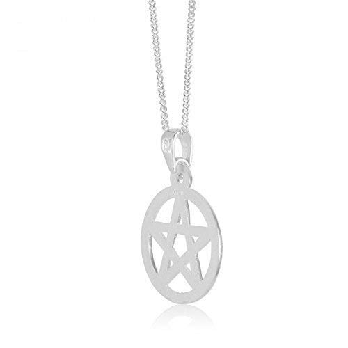 Pentagram Celtic Pagan Sterling Silver Pentacle Pendant Wicca Traditional