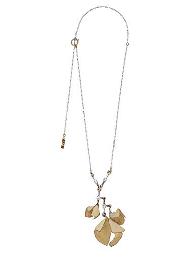 Marni Women's Comv0116a0t200000w20 Beige Metal Necklace