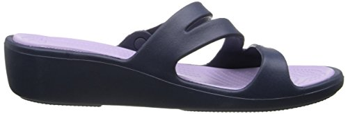 Sandalias crocs Lavender Navy mujer para Blu 47PqdPwYg
