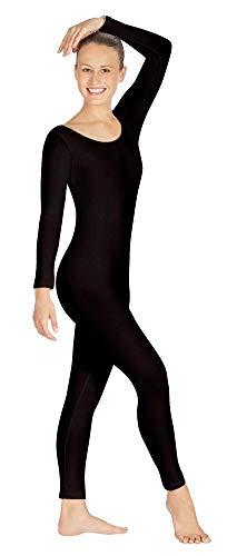 Body Wrappers Womens Long Sleeve Unitard MT217 -BLACK XL