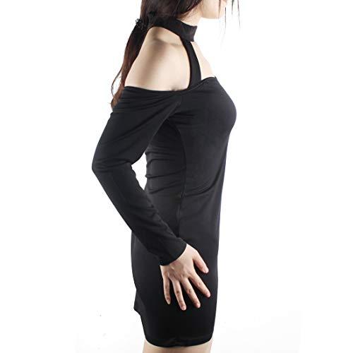 01 Body Shoulder Jsy Longues Sexy Manches Femmes Noir Choker Andux Combinaison Off Collants q6vWnPEx1