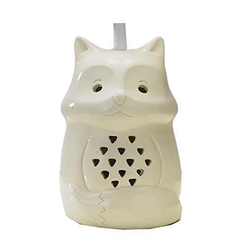 Lolli Living Lamp Base - Fox - Animal Shaped Lamp W/ Night Light, Three-Way Switch, Gender Neutral, Durable Resin, Uses Energy Efficient Cfl Bulb (Lolli Living Lamp)
