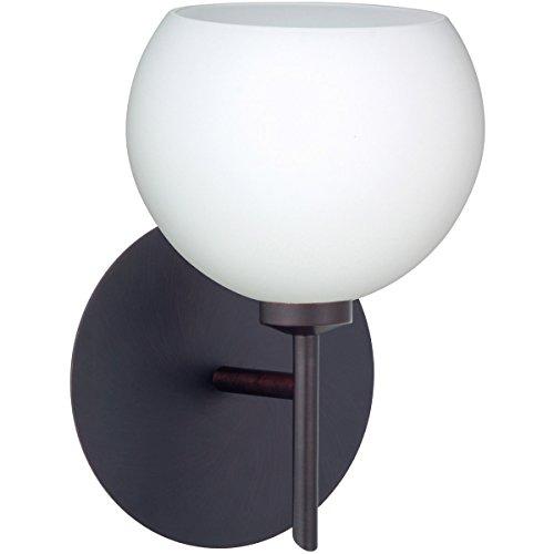 Besa Lighting 1SW-565807-LED-BR Besa, Palla 5 Mini Sconce, Opal Matte, Bronze Finish, 1x5W LED (565807 Matte Opal Br)