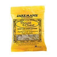 Jakemans Throat & Chest Lozenges Honey & Lemon Menthol 30 ea (Pack of 3)