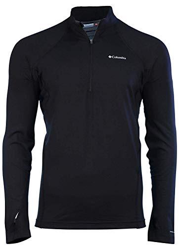 (Columbia Men's Midweight Half Zip Omni Heat Top Black Shirt (M))