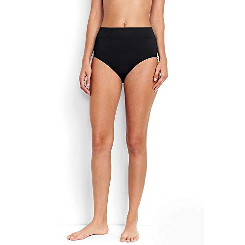 Lands' End Women's High Waisted Bikini Bottoms with Tummy Control, 10, -