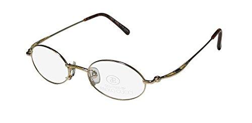 Paolo Gucci 7440 Mens/Womens Oval Full-rim Eyeglasses/Eyewear (47-20-140, - Eyeglasses Titanium Gucci Frames