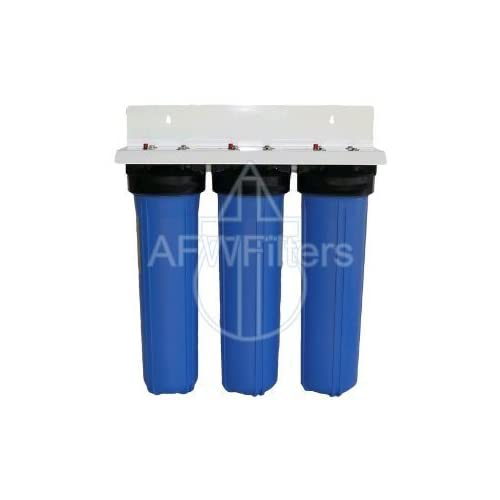 Image of Under-Sink & Countertop Filtration 3 Stage 20' Big Blue Whole House GAC/KDF85 Water Filter w/Radial Flow Carbon Block - Removes Sediment, Iron, Hydrogen Sulfide (rotten egg smell), Chlorine, Chloramines