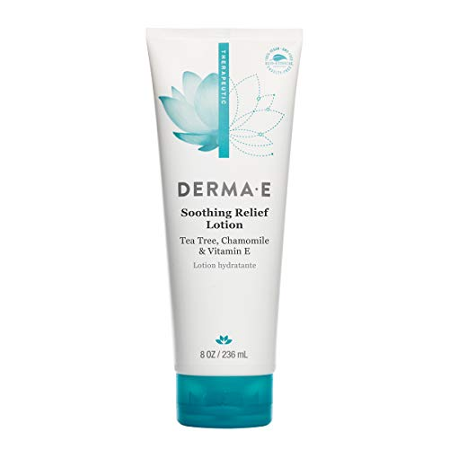DERMA E Soothing Relief Lotion, Ease Discomfort of Irritated Skin, Fast-Absorbing Lotion, 8 fl. Oz