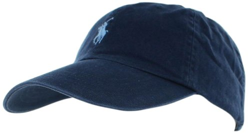Polo Ralph Lauren Mens Pony Logo Baseball Hat Cap Blue