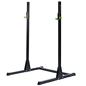 """RAGE Fitness Adjustable Squat Rack, Bench Press Rack, 2"""" x 2"""" 11 gauge steel construction"""
